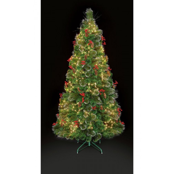 Premier Decorations 4ft LED Snow Tipped Christmas Tree - Green