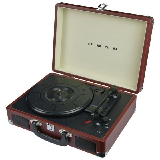 Bush Classic Portable Turntable - Brown
