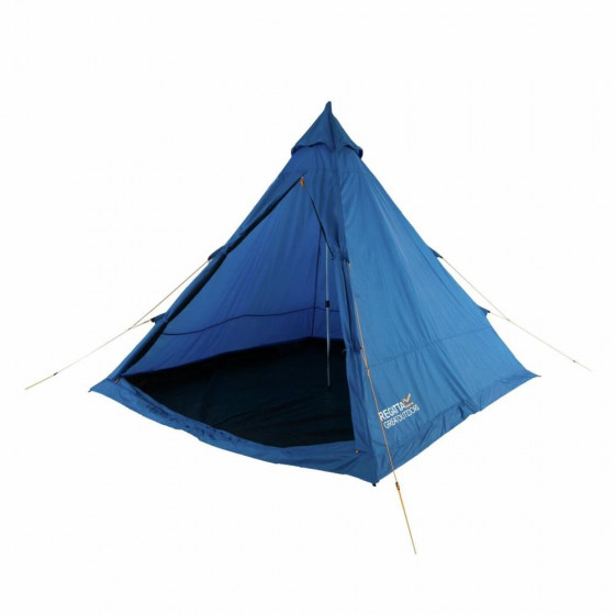Regatta Zeefest 4 Man 1 Room Teepee Camping Tent - Blue