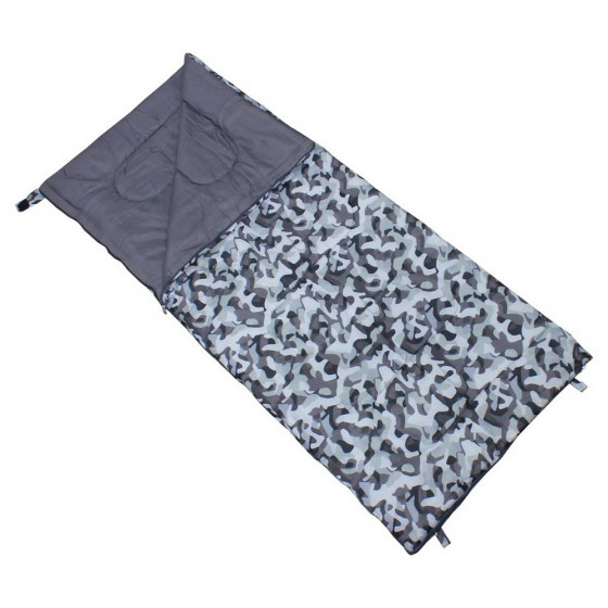 Grey Camo Envelope 200GSM Single Sleeping Bag