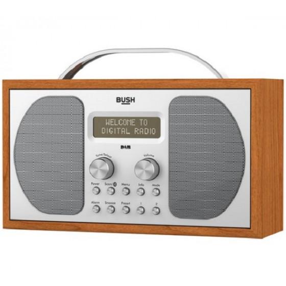 Bush DAB Bluetooth Wooden Radio (No Mains Lead)