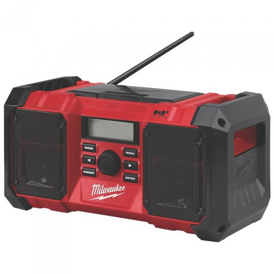 Milwaukee M18JSRDAB+-0 DAB+/FM Cordless Site Radio-18v-Bare Tool (No Back Light)