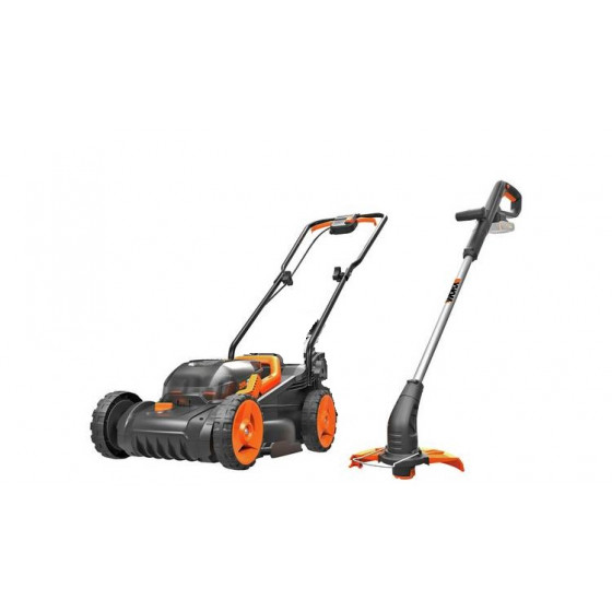 WORX Cordless Lawnmower & Grass Trimmer (No Batteries,No Charger & No Grass Box)