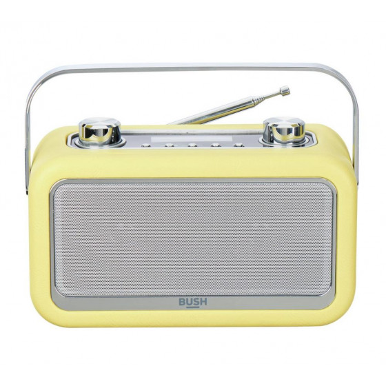 Bush Gladstone Leather DAB Radio - Yellow
