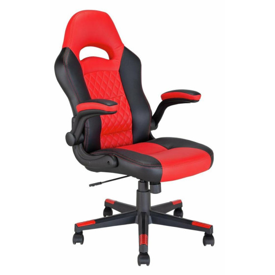 Home Raptor Faux Leather Ergonomic Gaming Chair - Black & Red