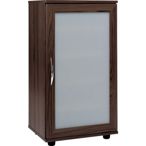 Contemporary Storage Cabinet - Walnut Effect (Scratch On Back Panel)