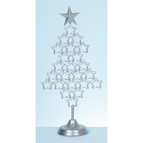 Premier Decorations 54cm Christmas Tree Card Holder - Silver