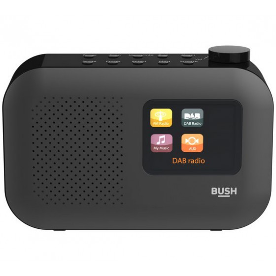 Bush Colour Screen DAB Radio - Black