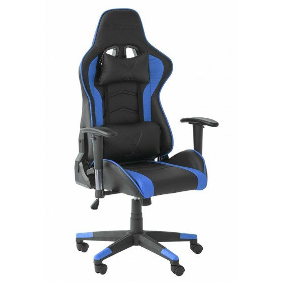X-Rocker Alpha eSports Ergonomic Office Gaming Chair - Black & Blue