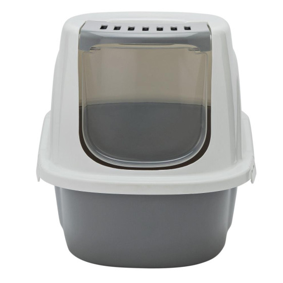 Home Front Opening Cat Litter Tray - Grey