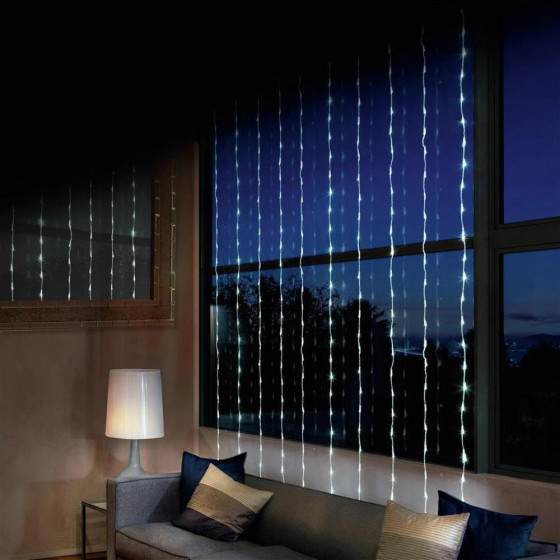 Premier Decorations 240 LED Waterfall Curtain Lights - Warm White