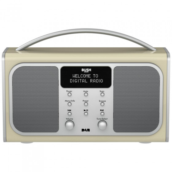 Bush Bluetooth Stereo DAB Radio - Cream (Battery Operated Only)