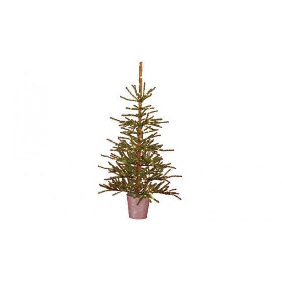 Home 5ft Natural Pre-Lit Christmas Tree - Green