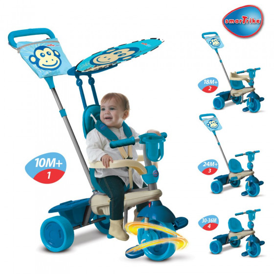 Smart Trike Touch Steering 4-in-1 Safari Ride On - Monkey