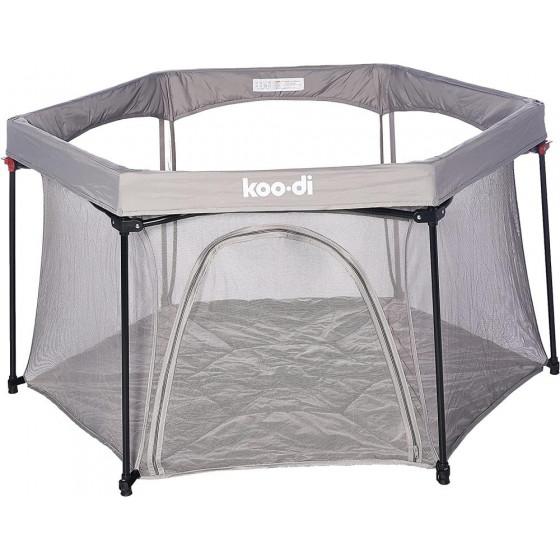 Koo-Di Deluxe Foldable Playpen - Grey