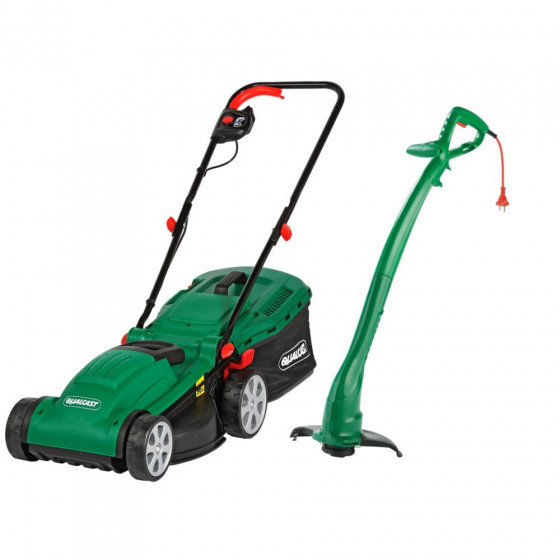 Qualcast Electric Rotary 1300W Mower and 320W Grass Trimmer (B Grade)
