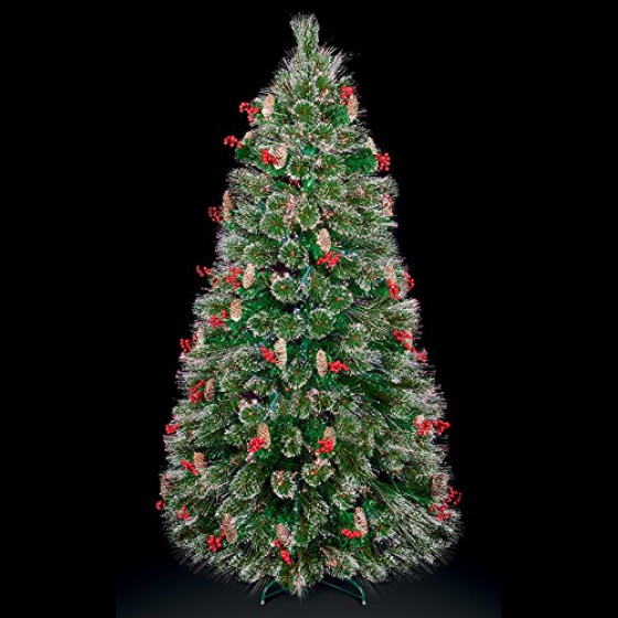 Premier Decorations LED Snow Tipped Bottle Brush Christmas Tree - 4ft