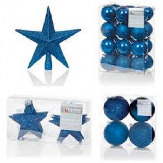 Premier Decorations 35 Piece Luxury Chrismas Tree Decoration Set - Dark Blue