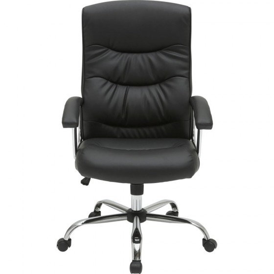 Sydney Gas Lift Leather Faced Office Chair Black