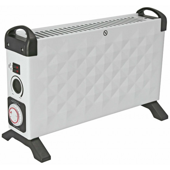 Challenge Diamond 2kw Convector Heater With Timer - White