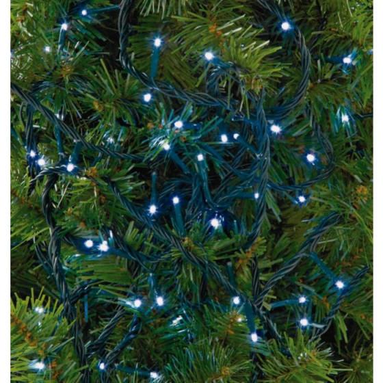 80 Multi-Function LED Christmas Tree Lights - Bright White