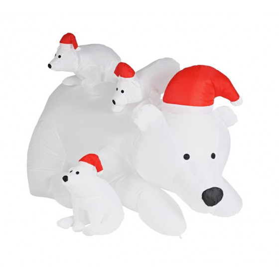 home inflatable polar bear family - Polar Bear Inflatable Christmas Decorations