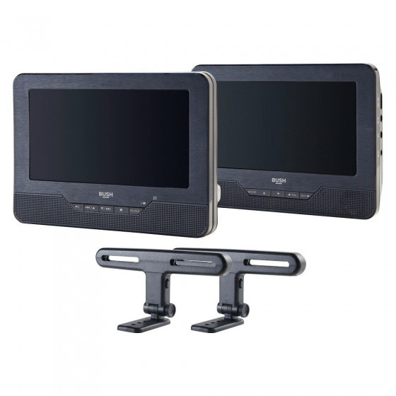Bush 9 Inch Dual Screen In Car DVD Player