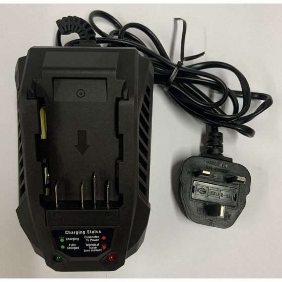Replacement Charger For Challenge 18v Cordless Rotary Lawnmower - CH18V2