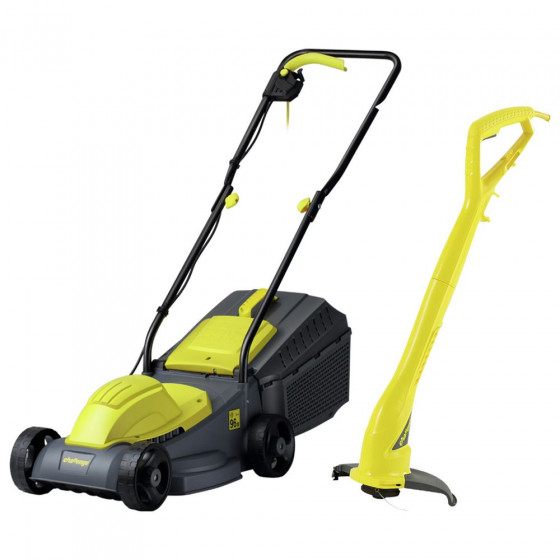 Challenge Corded Lawnmower 1000W + Grass Trimmer 250W (B Grade)