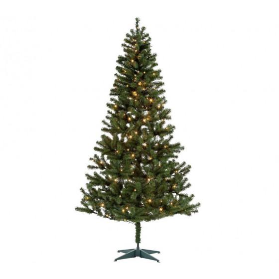 Home Nordland 7ft Pre-Lit Christmas Tree - Green