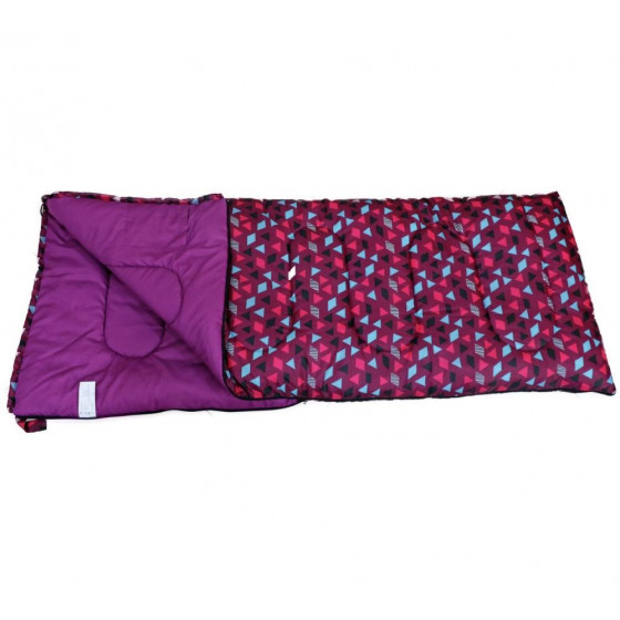 Trespass 300GSM Envelope Geo Single Sleeping Bag - Purple