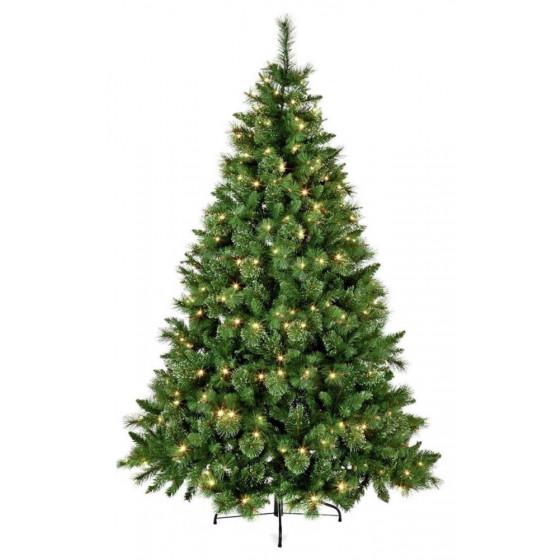 Premier Decorations Pre-Lit Ridgemere Pine Dew Drop 6ft Christmas Tree - Green
