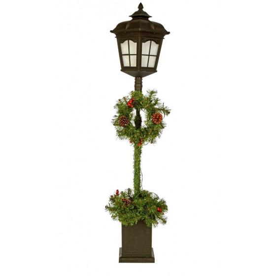 Home 4ft Christmas Lantern & Wreath