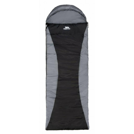 Trespass 400GSM Envelope Single Sleeping Bag - Black/Grey