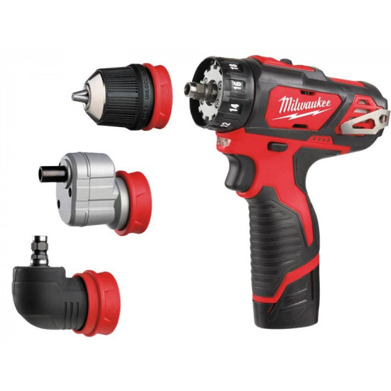 Milwaukee M12BDDXKIT-202C 12v Removable Chuck Drill Driver