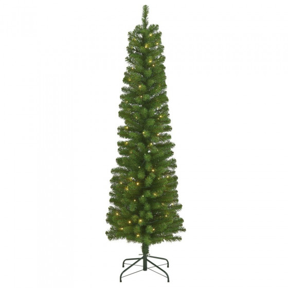 Home 6ft Pencil Christmas Tree - Green