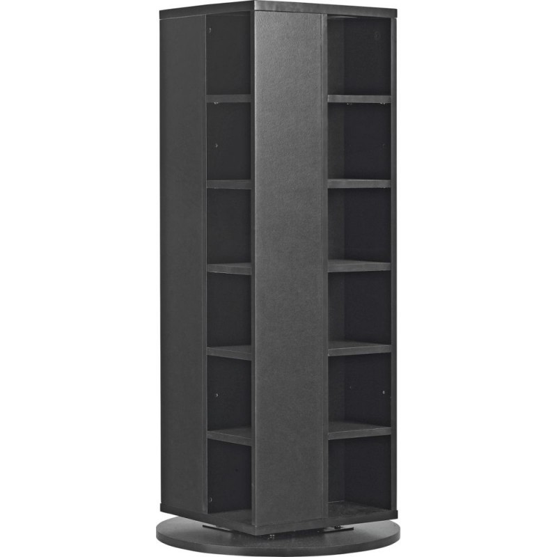 Twister Dvd And Cd Media Storage Unit Black Storage