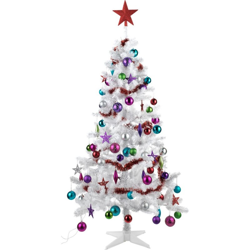 Argos Christmas Light Decorations: Ready To Dress White Merry Bright Christmas Tree