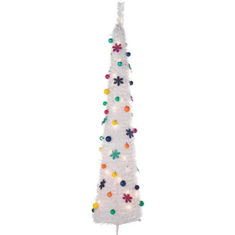 Christmas Decorations And Trees Uk : Pop up jolly holidays white christmas tree ft