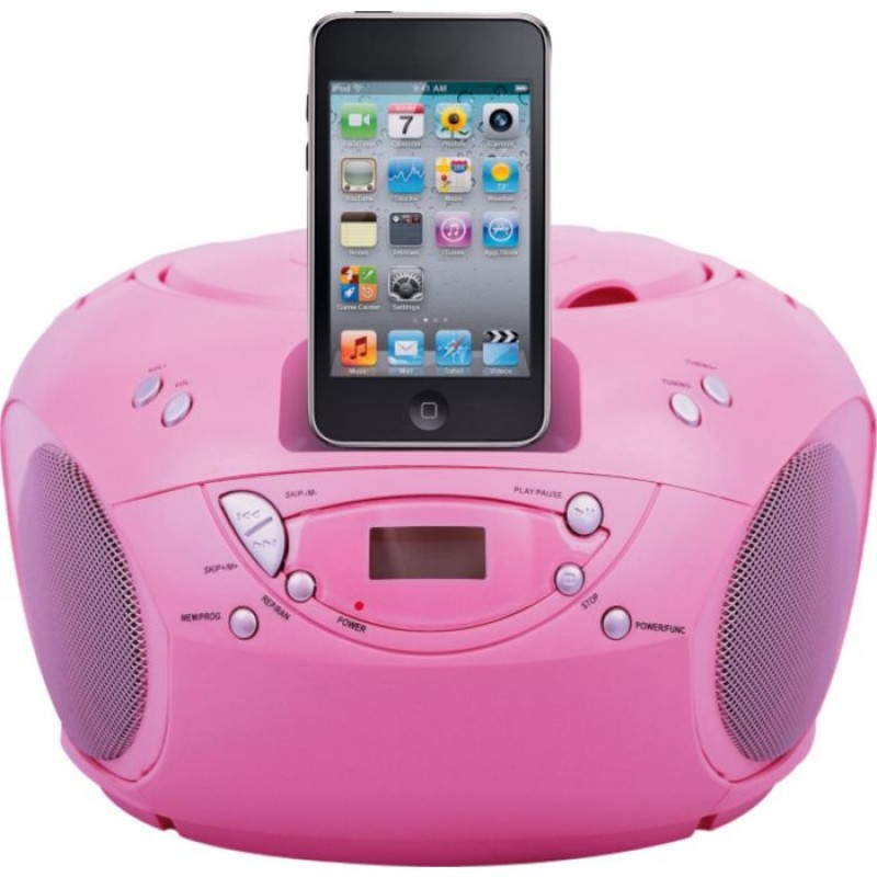 Bush Portable Cd Player With Ipod Docking Pink Cd