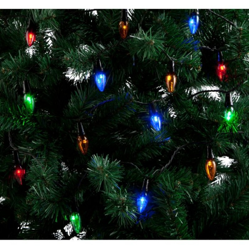 80 led bulbs christmas tree lights multi coloured