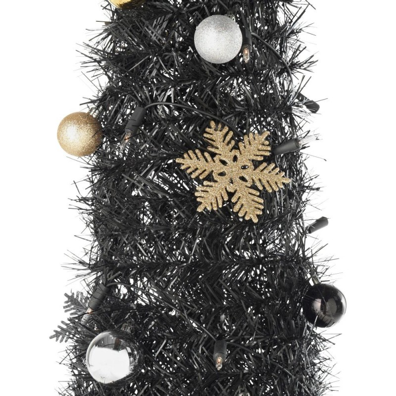 Pop Up Luxe Black Christmas Tree - 6ft - Pop Up Luxe Black Christmas Tree - 6ft - Christmas Trees - Christmas