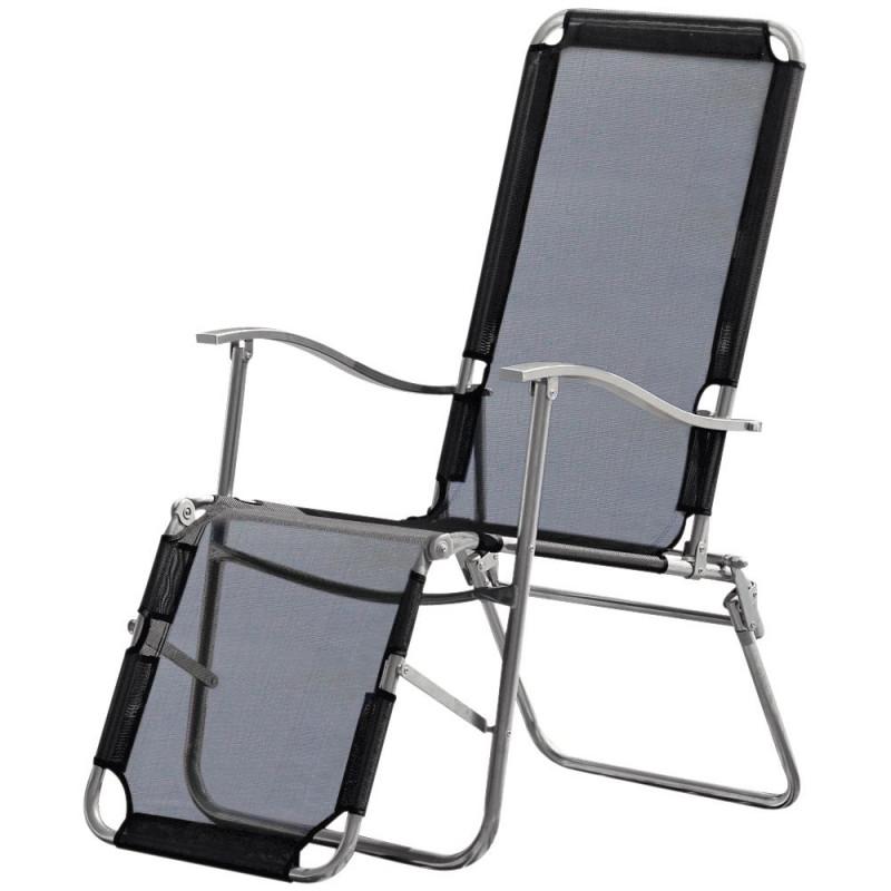 Malibu Recliner Garden Chair Black Garden Furniture