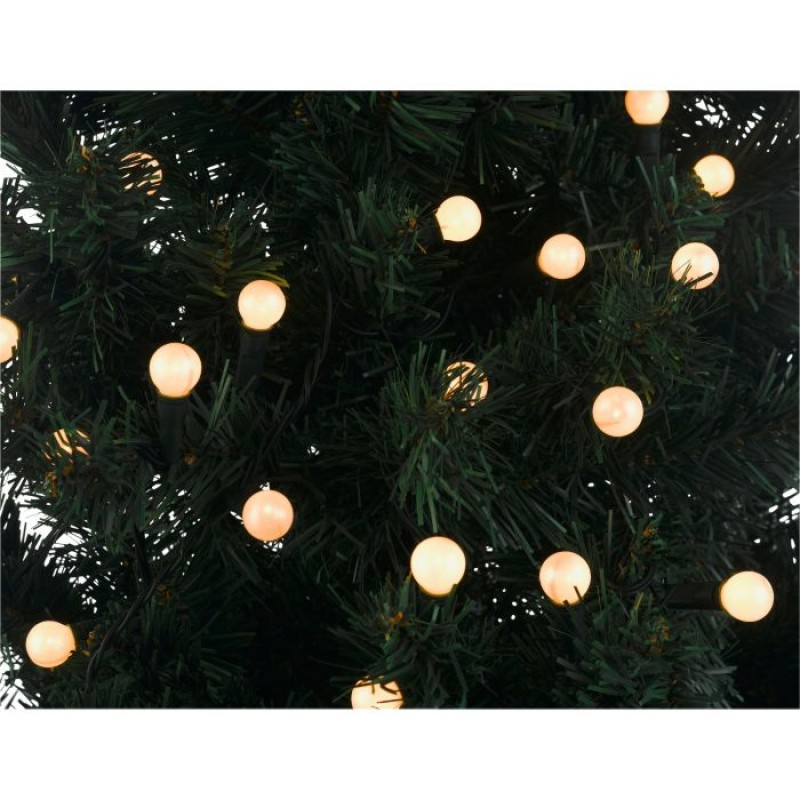 120 static christmas tree lights white berry