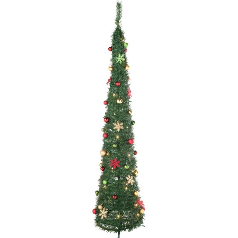 Pop Up Holly and Ivy Green Christmas Tree - 6ft ...