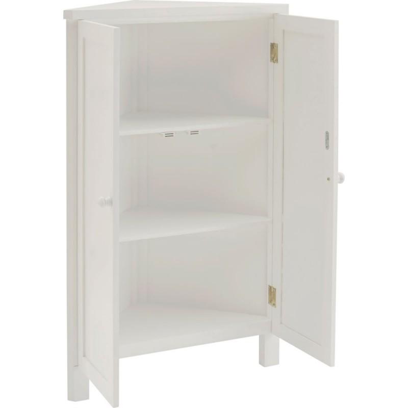 Charmant Corner Storage Unit   White