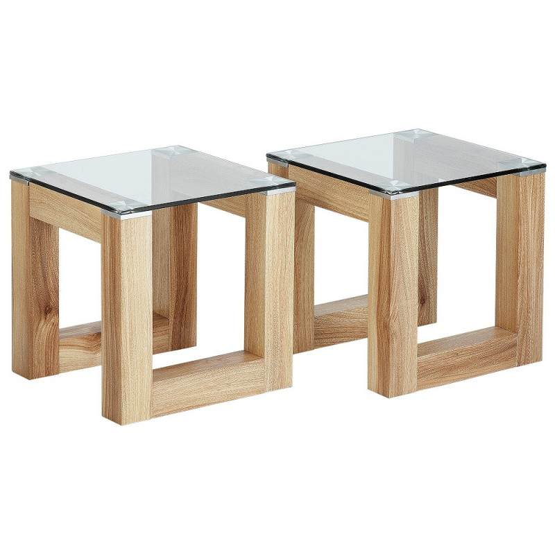 Hygena cubic coffee table set with 2 side tables tables chairs furniture gmv trade Side table and coffee table set