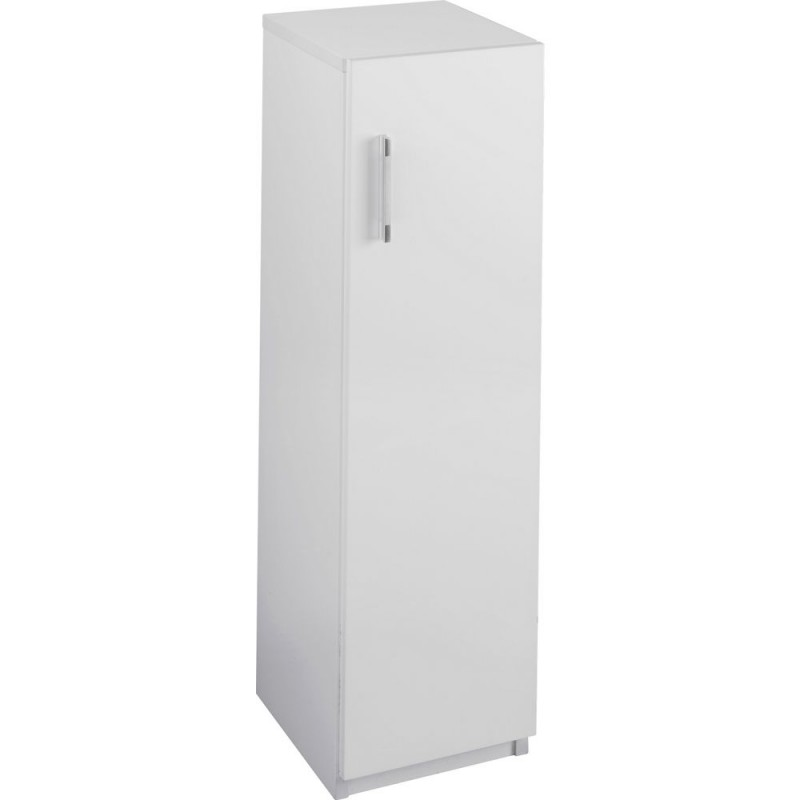 Hygena single door bathroom floor cabinet white gloss storage units furniture gmv trade for Bathroom floor cabinet with drawer