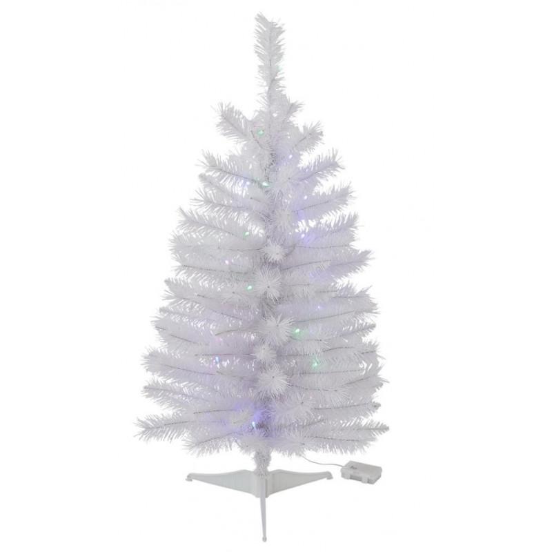 Home 3ft Pre-Lit Iridescent Christmas Tree - White ...