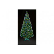 Premier Decorations 4ft Fibre Optic LED Burst Tree - Green